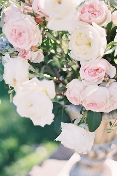 con otro tipo de flor, en este caso os muestro un centro de